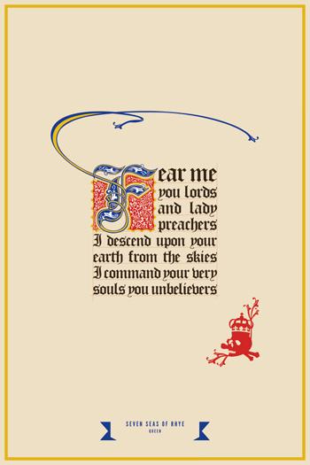 Seven Seas Poster von Alexandre Bourgois