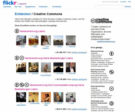 flickr & creative commons Screenshot