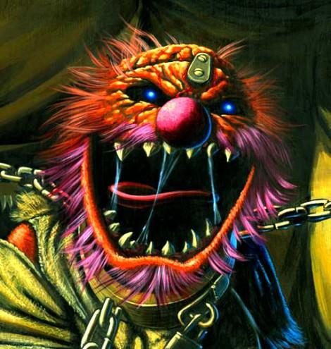 Animal von den Muppets als Iron Maidens Eddie auf dem Cover von