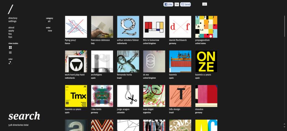 Screenshot von typographicposters.com