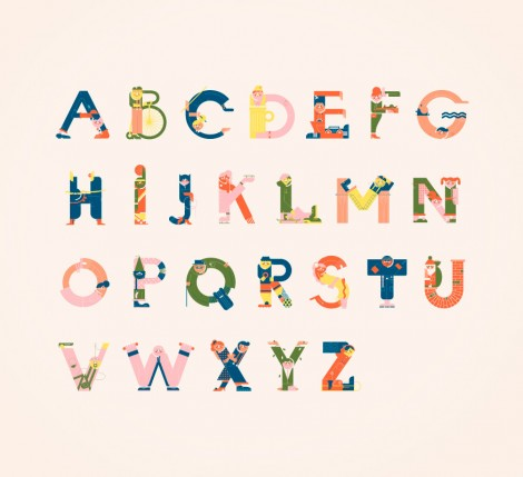 Illustrated Alphabets von Vesa Sammalisto © (1)