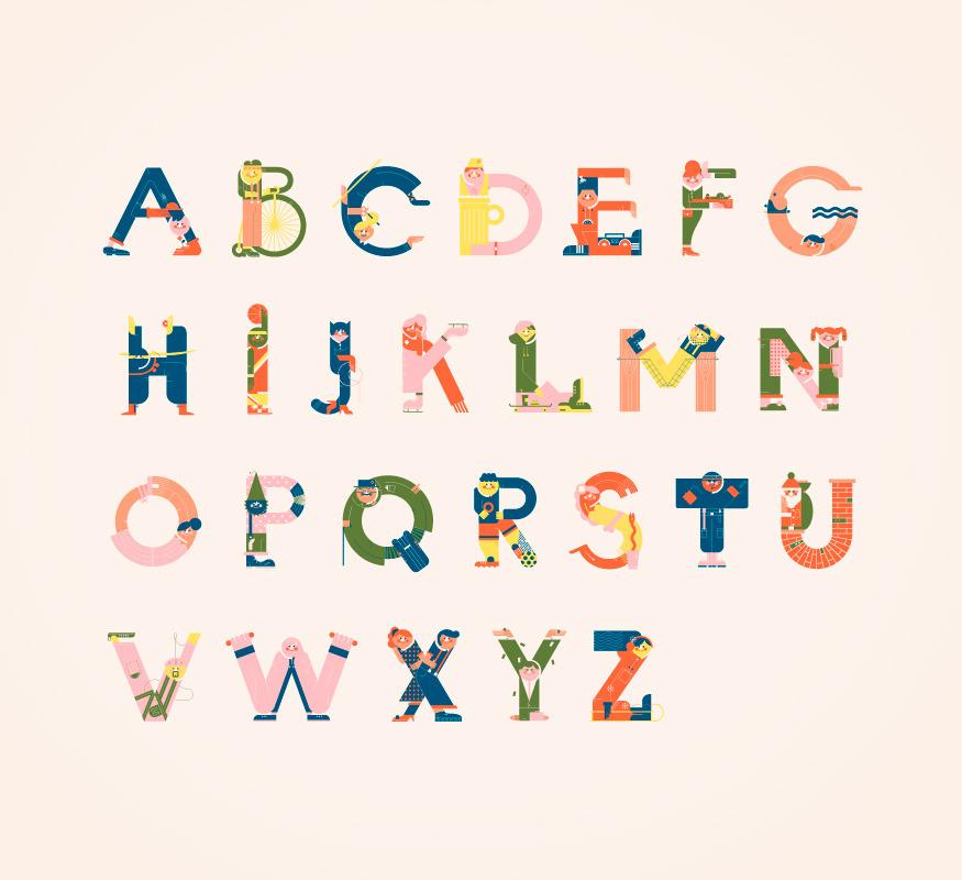 Illustrated Alphabets von Vesa Sammalisto © (1)