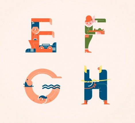 Illustrated Alphabets von Vesa Sammalisto © (2)