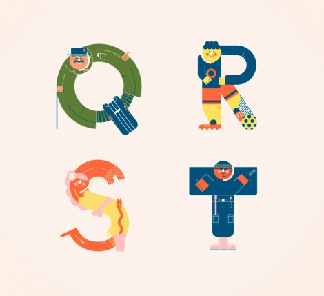 Illustrated Alphabets von Vesa Sammalisto © (5)