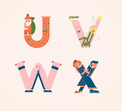 Illustrated Alphabets von Vesa Sammalisto © (6)