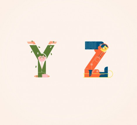 Illustrated Alphabets von Vesa Sammalisto © (7)