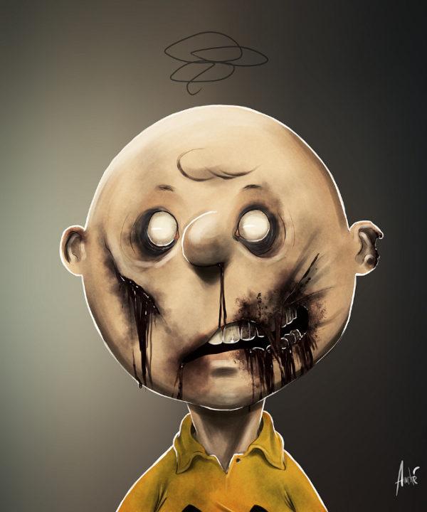 Zombie Charlie Brown Illustration von Andre De Freitas (©Andre De Freitas)