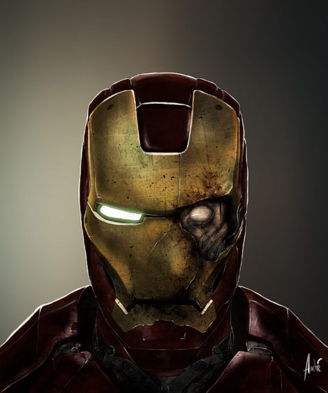 Zombie Iron Man Illustration von Andre De Freitas (©Andre De Freitas)