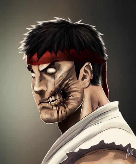 Zombie Ryu Illustration von Andre De Freitas (©Andre De Freitas)