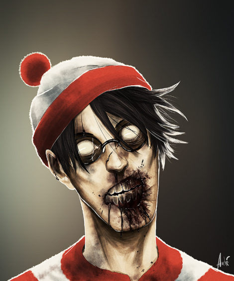 Zombie Waldo Illustration von Andre De Freitas (©Andre De Freitas)