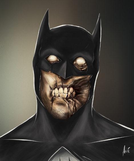 Zombie Batman Illustration von Andre De Freitas (©Andre De Freitas)