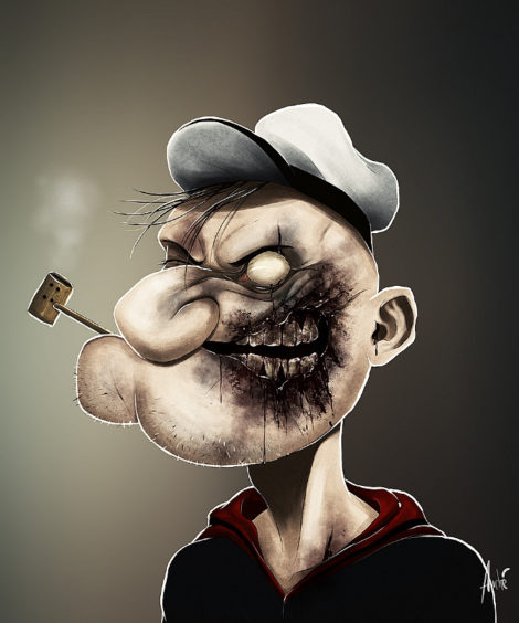 Zombie Popeye Illustration von Andre De Freitas (©Andre De Freitas)