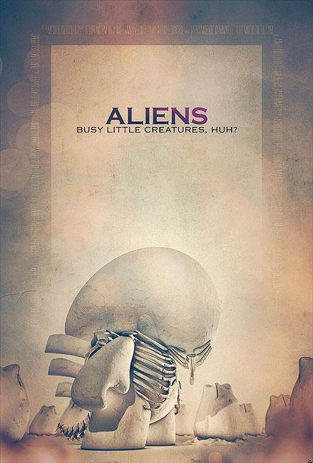Aliens Filmposter von Tomasz Opasinski (©Tomasz Opasinksi)