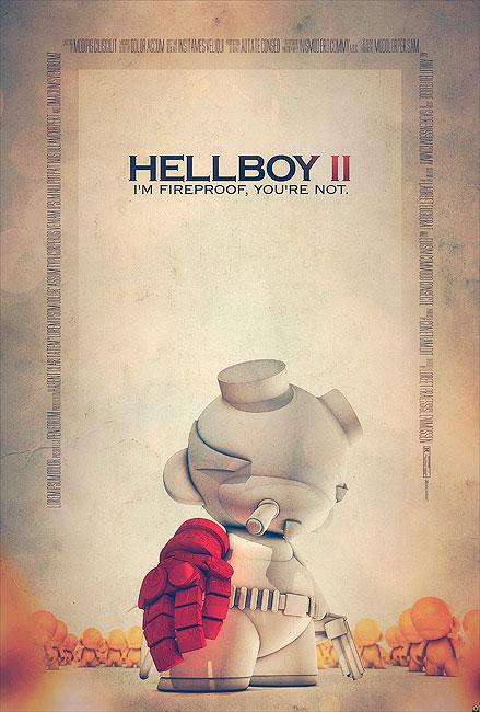 Hellboy Filmposter von Tomasz Opasinski (©Tomasz Opasinksi)