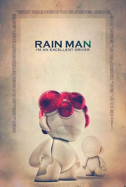 Rain Man Filmposter von Tomasz Opasinski (©Tomasz Opasinksi)