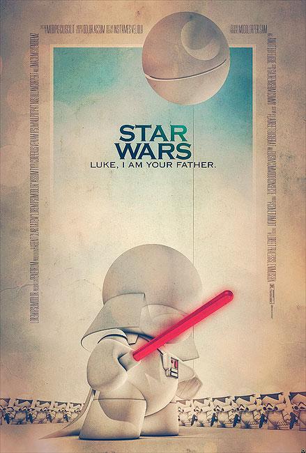 Star Wars Filmposter von Tomasz Opasinski (©Tomasz Opasinksi)