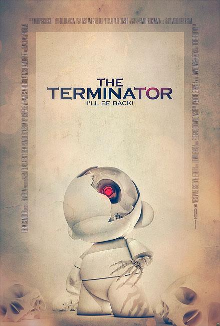 Terminator Filmposter von Tomasz Opasinski (©Tomasz Opasinksi)