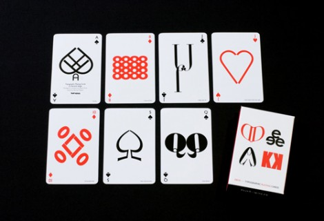 Typografie Kartenspiel von Hat-Trick