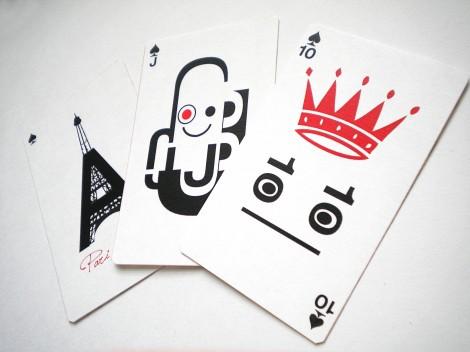 Typografie Kartenspiel von Teasing Design