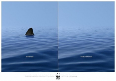 "WWF Plakatkampagne ""Exploiting the ecosystem also threatens human lives"""