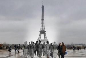 """""""Paris Now and Then"""" (Autor unbekannt; gefunden auf amazingonly.com)"""