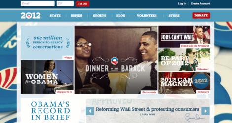 Barack Obamas Website mit Mensch