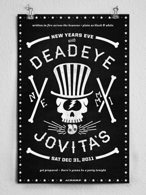 New Years Eve Poster mit Haymaker