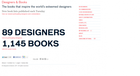 Designers&Books Homepage