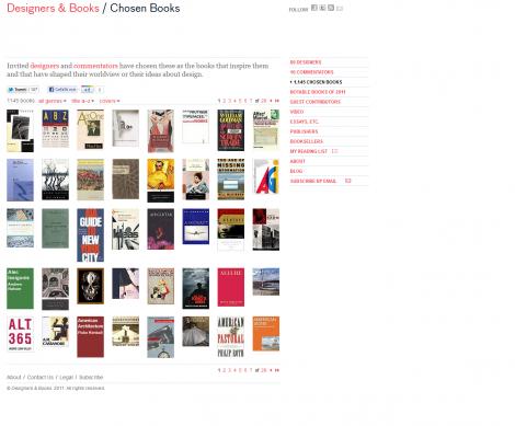 Designers&Books Bücherübersicht