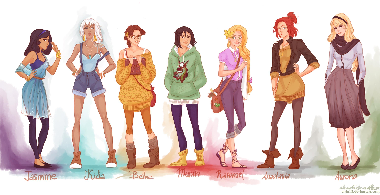 Рисунки девушек из мультиков 7 фотография