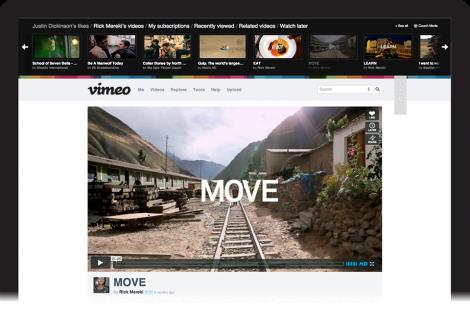 Das Redesign der Videoplattform vimeo