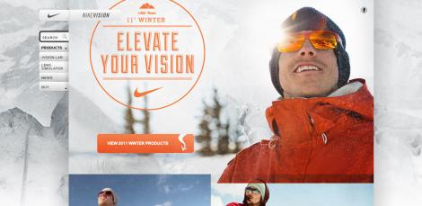 Nike Webseite mit Duke