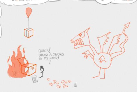 Draw a Stickman: Mein Held im Kampf mit dem Drachen