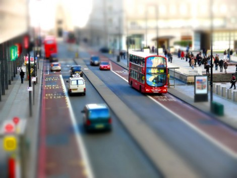 Tilt-Shift Foto von Waterloo, London