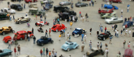 Tilt-Shift Foto von der Clasy Chassis in Houston, Texas