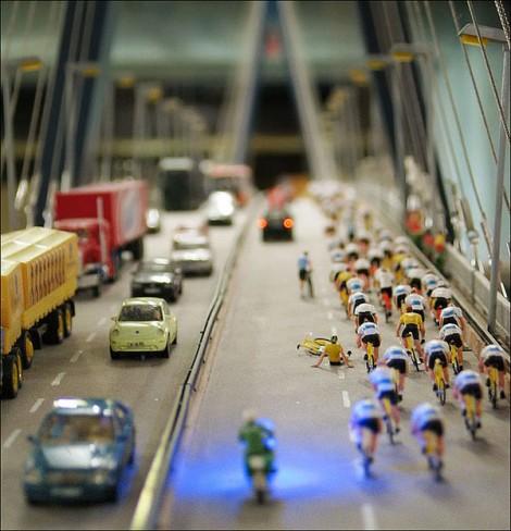 Zum Vergleich: Tilt-Shift Foto vom Miniaturwunderland in Hamburg