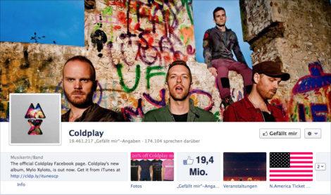 Das Coverfoto von Coldplay