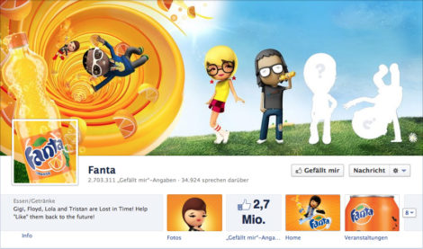 Fanta facebook Coverfoto