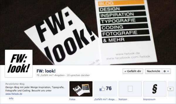 Das Coverfoto von FW: look!