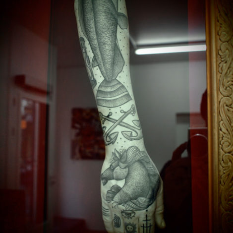 Guy Le Tatooer Arm Exhibition
