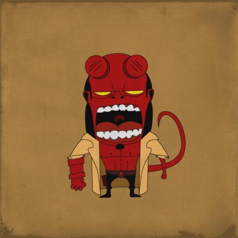 Screaming Hellboy