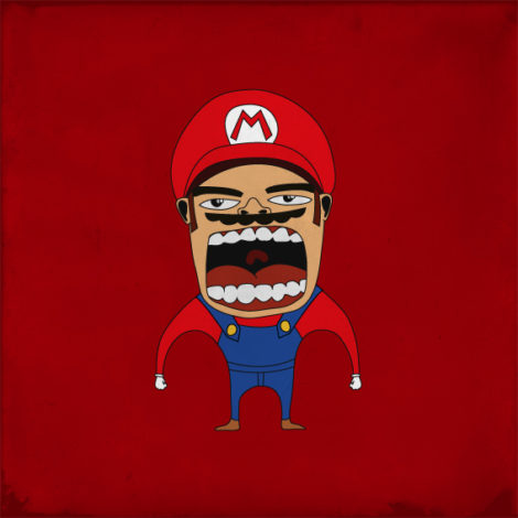 Screaming Super Mario