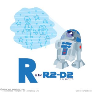 """R2-D2, famed astromech droid, holoprojecting his innermost thoughts."""