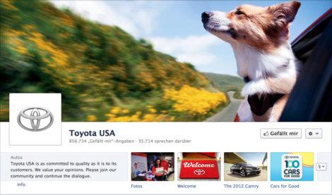 Das Coverfoto von Toyota USA