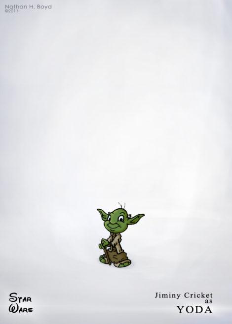 Jiminy als Yoda