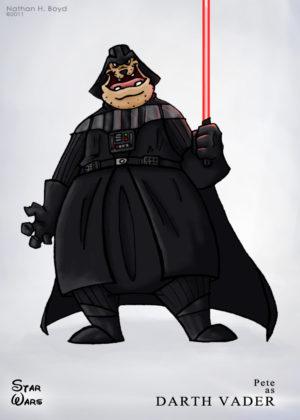 Pete als Darth Vader