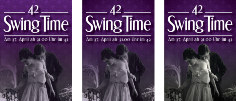 "Entwicklung der Front des ""42 Swing Time""-Flyers"