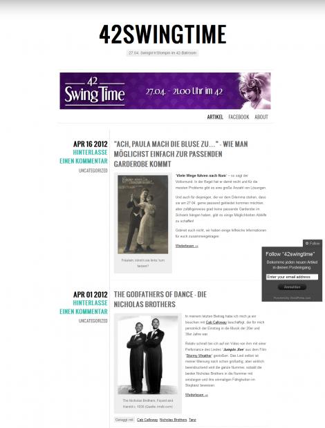 42 Swing Time Blog