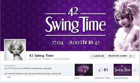 42  SwingTime Facebook-Seite
