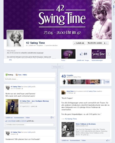 Facebook-Seite http://www.facebook.com/42SwingTime